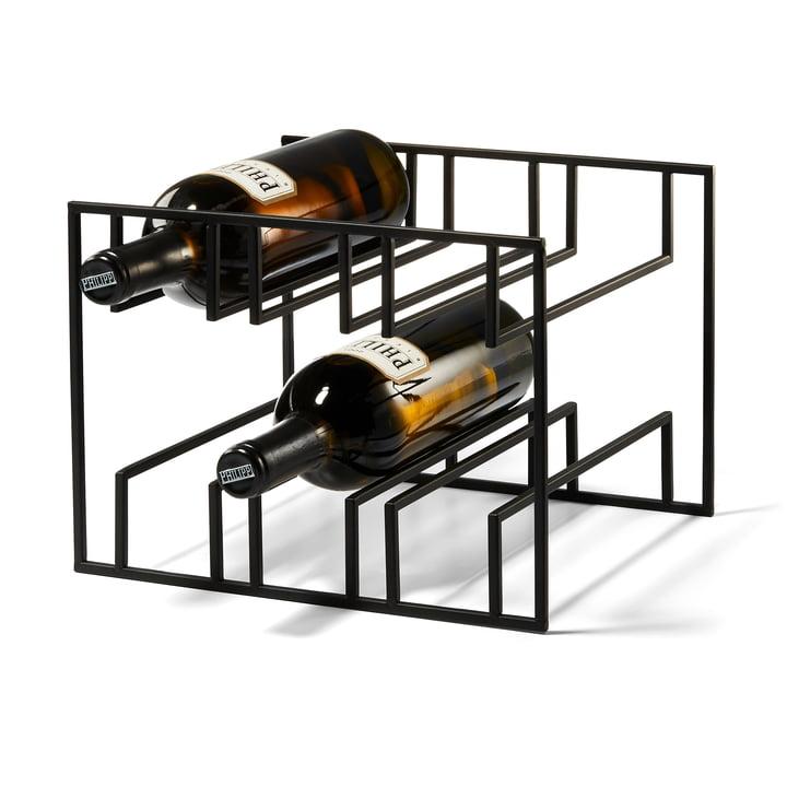 Cubo Wine rack for 6 bottles from Philippi in black