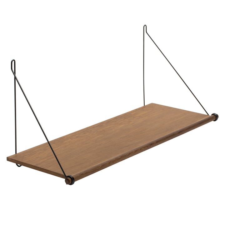 Loop Shelf from We Do Wood in smoked oak / black