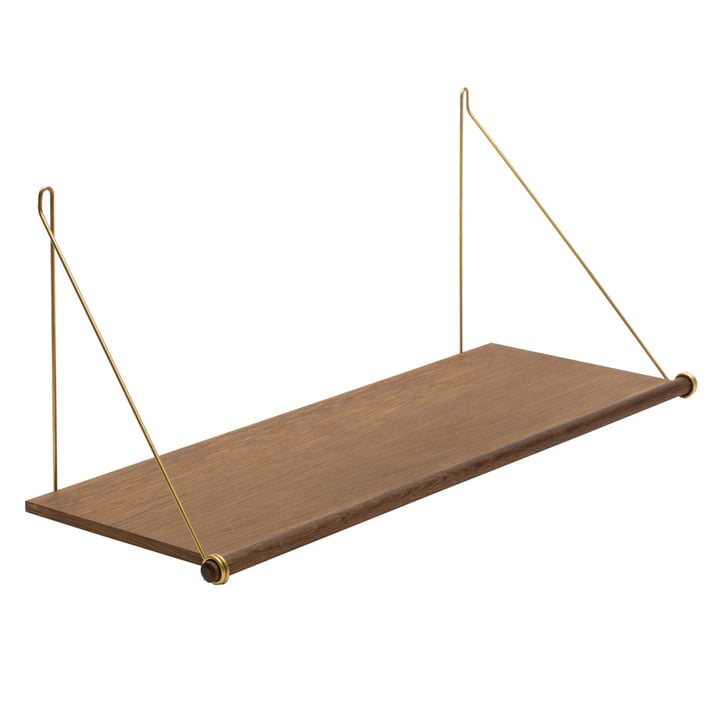 Loop Shelf from We Do Wood in smoked oak / brass