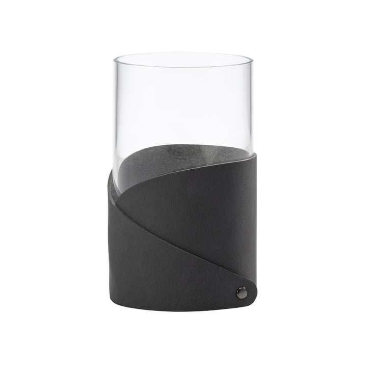Fold Vase M Ø 11 cm from LindDNA in Nupo anthracite / glass