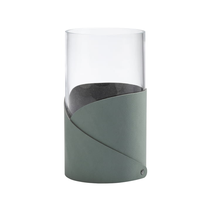 Fold Vase M Ø 11 cm from LindDNA in Nupo pastel green / glass