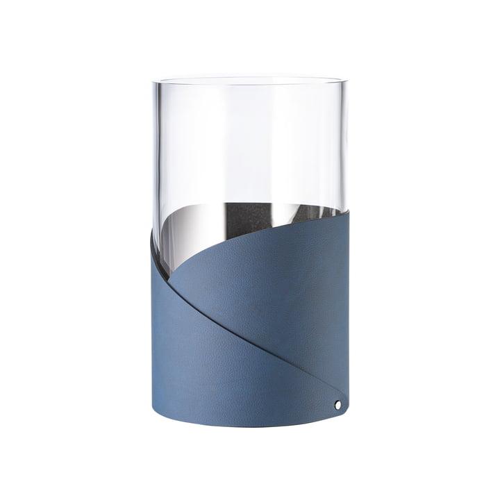 Fold Vase M Ø 11 cm from LindDNA in Nupo midnight blue / glass