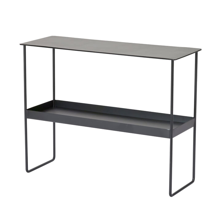 Console table from LindDNA in steel black / Bull black