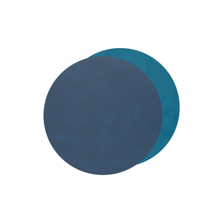 Glass Coasters Circle Double from LindDNA in Nupo midnight blue / petrol