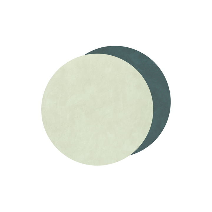 Glass Coasters Circle Double from LindDNA in Nupo dark green / olive green