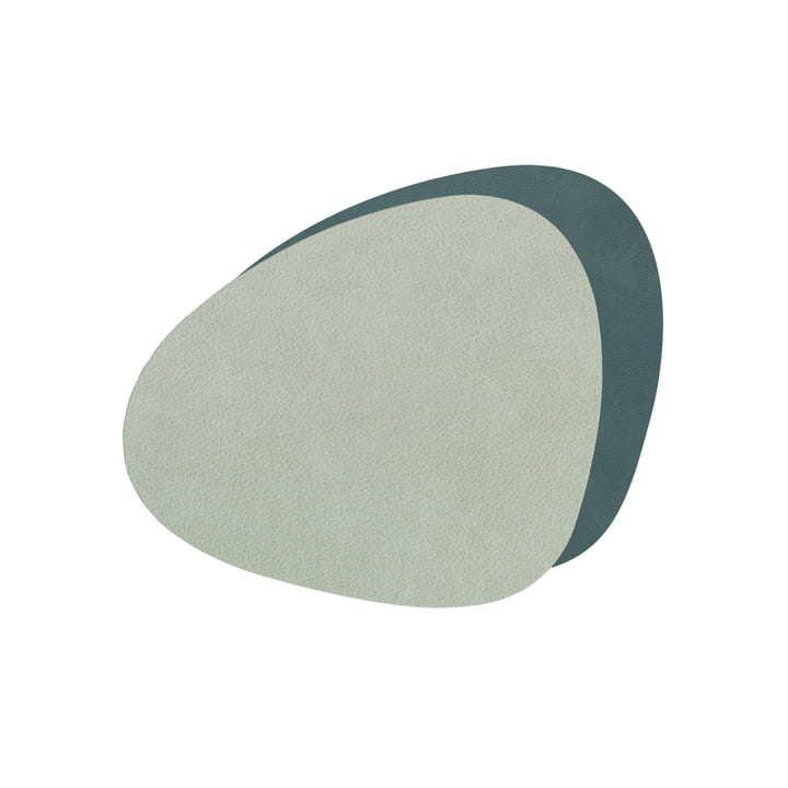 Glass coasters Curve Double from LindDNA in Nupo dark green / olive green