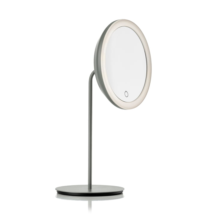Cosmetic mirror with 5x magnification and LED lighting Ø 18 cm from Zone Denmark in grey