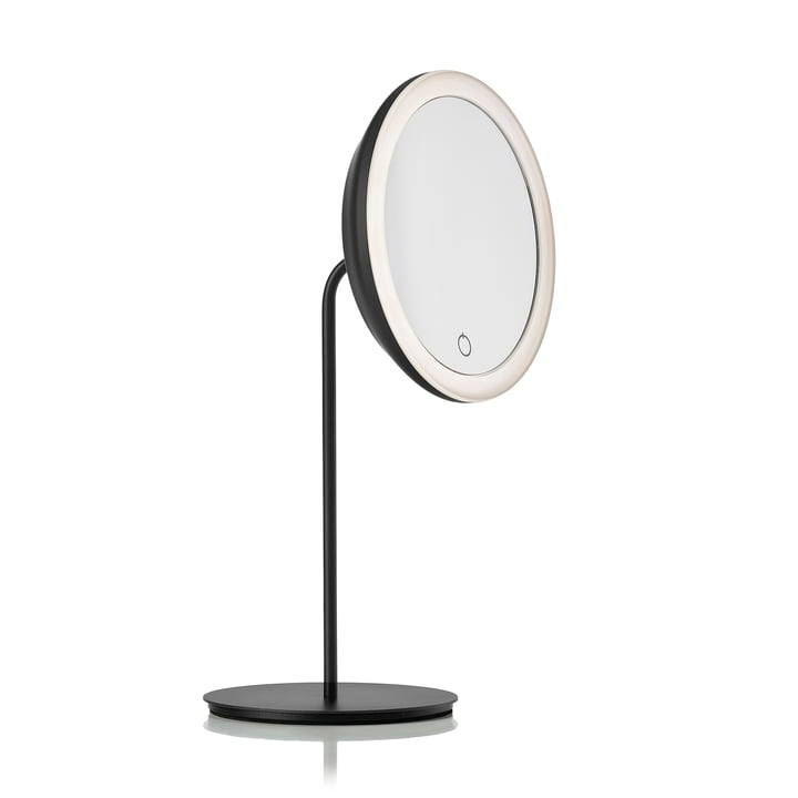 Cosmetic mirror with 5x magnification and LED lighting Ø 18 cm from Zone Denmark in black
