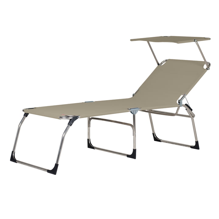 The Amigo 40+ Sun Tripod Lounger with Sun Canopy from Fiam , taupe