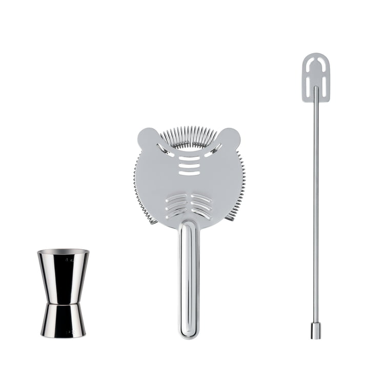 Our Roots Bar Set from Alessi made of stainless steel (3 pcs.)