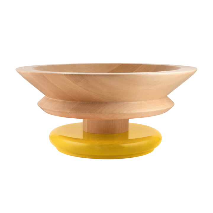 Twergi bowl Ø 30 cm from Alessi made of lime wood natural / yellow
