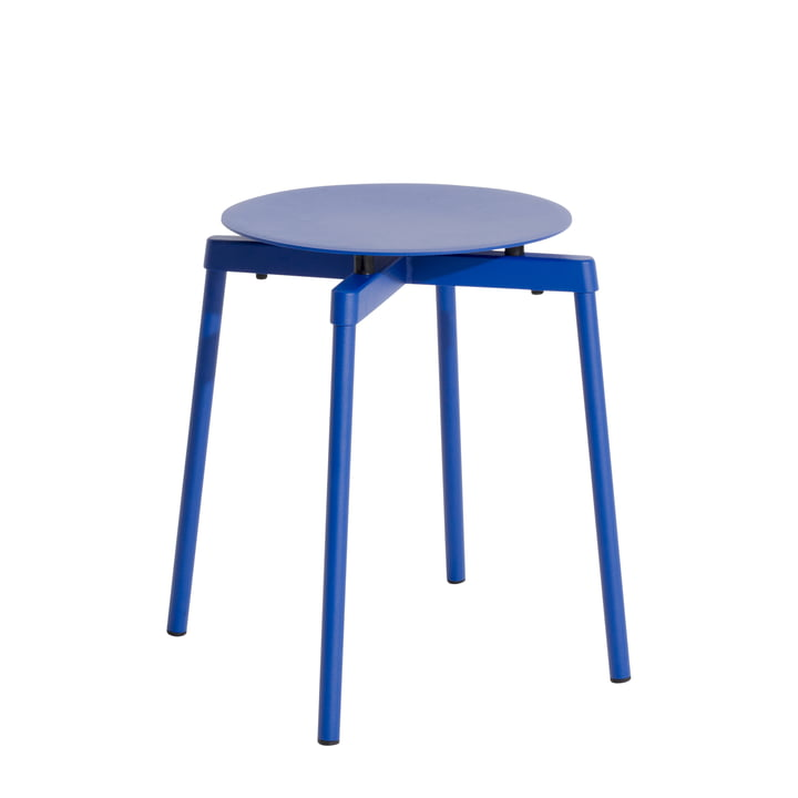 Fromme Stool Outdoor by Petite Friture in color blue