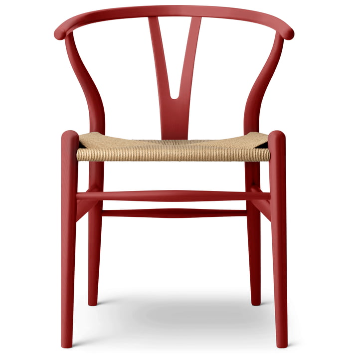 The CH24 Wishbone Chair from Carl Hansen , falu / Naturgeflecht (limited edition)