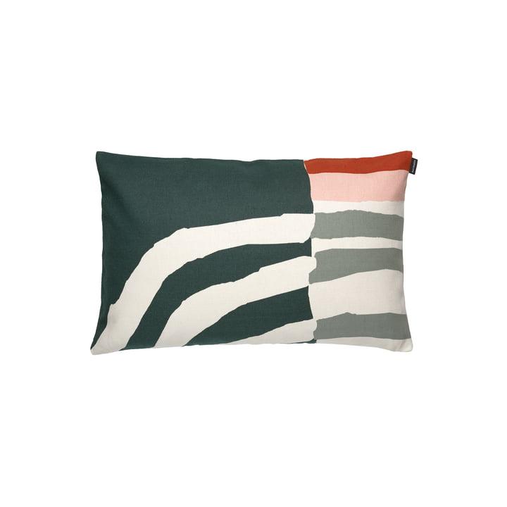 The Vuosirenkaat pillowcase from Marimekko , 40 x 60 cm, beige / green / pink (autumn 2021)