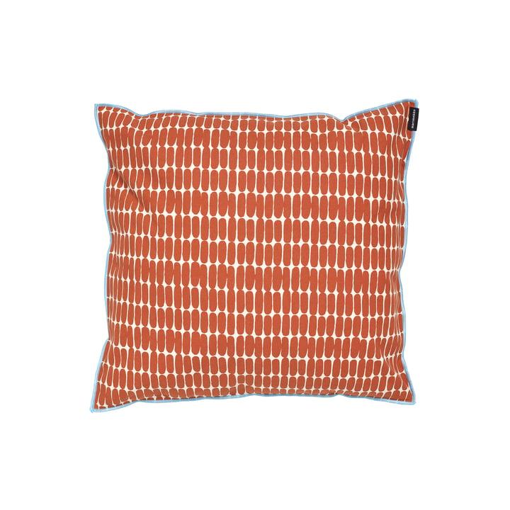 The Alku pillowcase by Marimekko, 40 x 40 cm, cotton white / brown (autumn 2021)