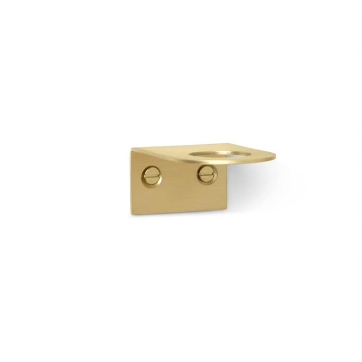 Basho Brass soap wall holder by ferm Living