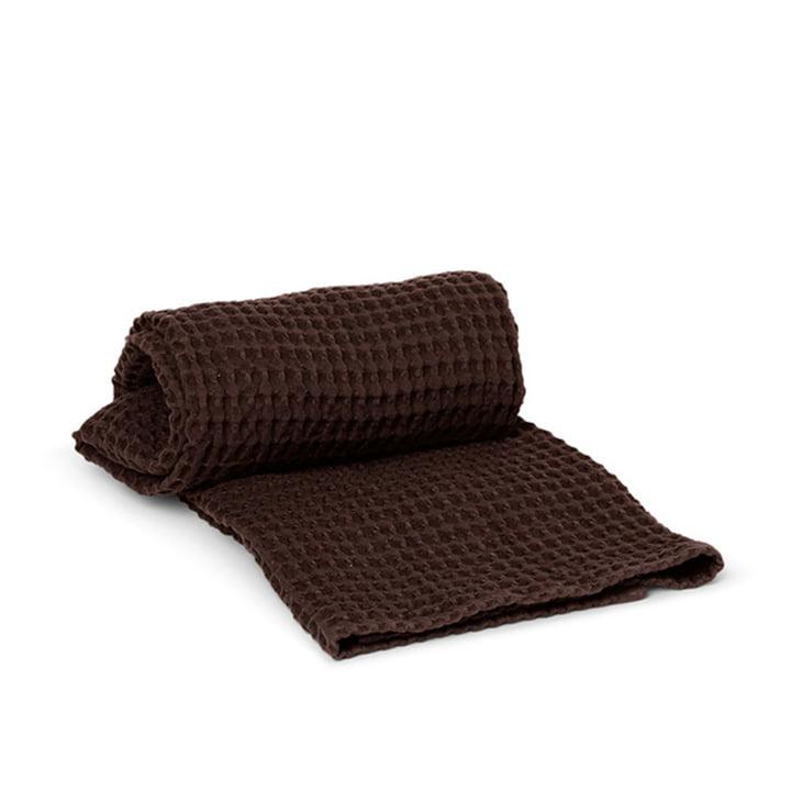 Organic Bath towel 70 x 140 cm by ferm Living in chocolate