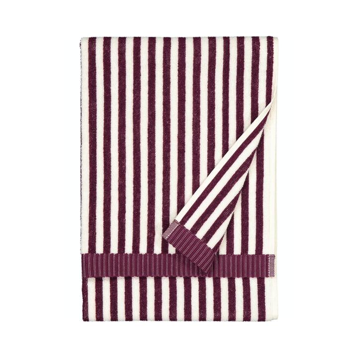 The Ujo towel by Marimekko, 50 x 70 cm, white / blackberry