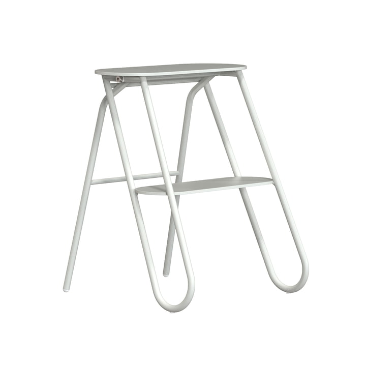 The Bukto folding step stool from Frost , small, H 46 cm, white