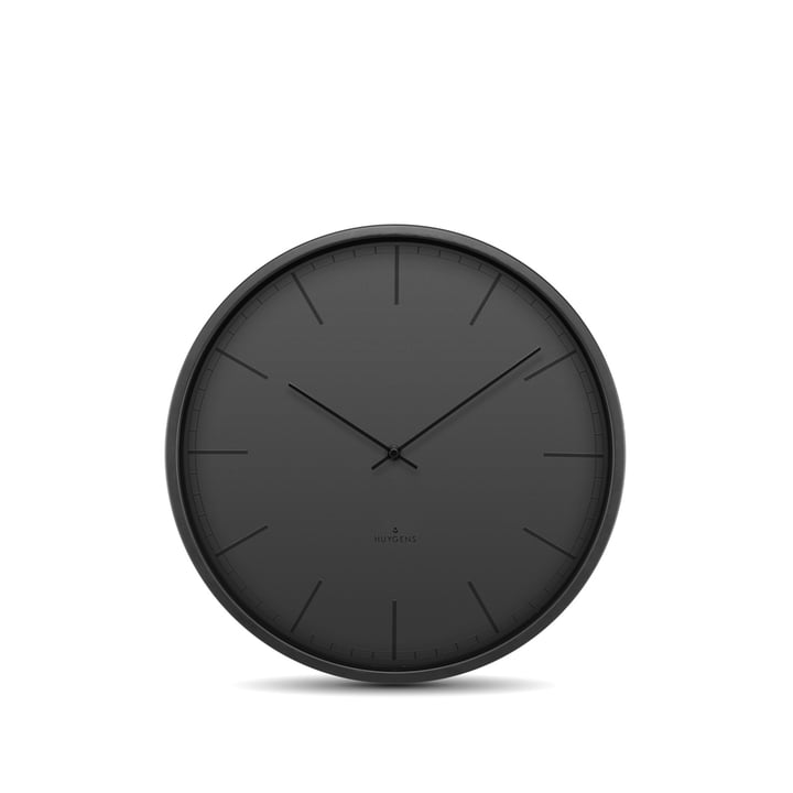 Tone Index wall clock Ø 25 cm from Huygens in black