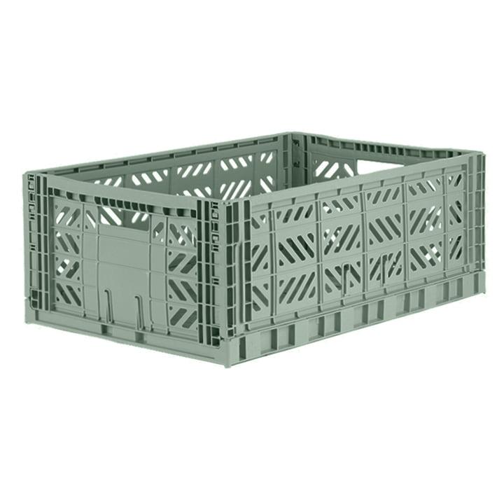 Folding box Maxi 60 x 40 cm from Aykasa in almond green