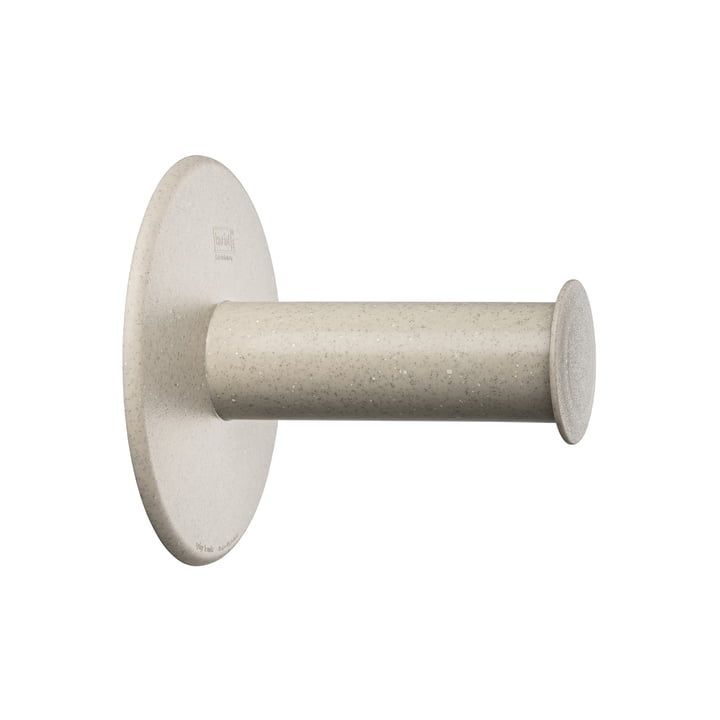 Plug'n Roll Toilet paper holder (Recycled) from Koziol in desert sand