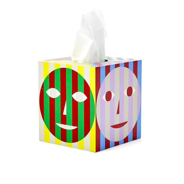 Everybody Cosmetic tissue box from Areaware in colorful