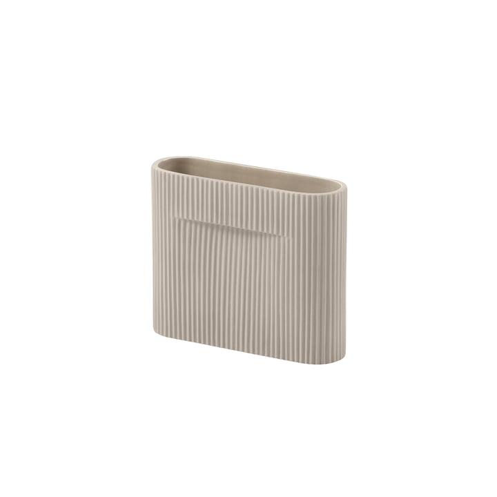 Ridge Vase H 16,5 cm from Muuto in beige