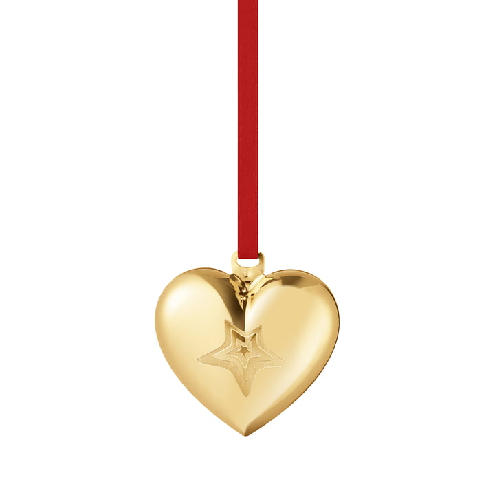 The 2021 Christmas Heart from Georg Jensen , gold
