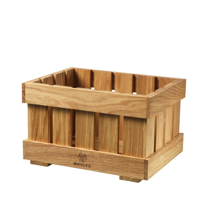 X1 Apple Box Fruit crate small from FDB Møbler in oak nature