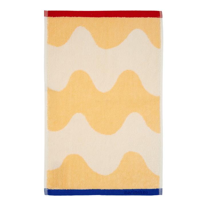 Marimekko - Lokki Guest towel 30 x 50 cm, beige / red / blue (Winter 2021)