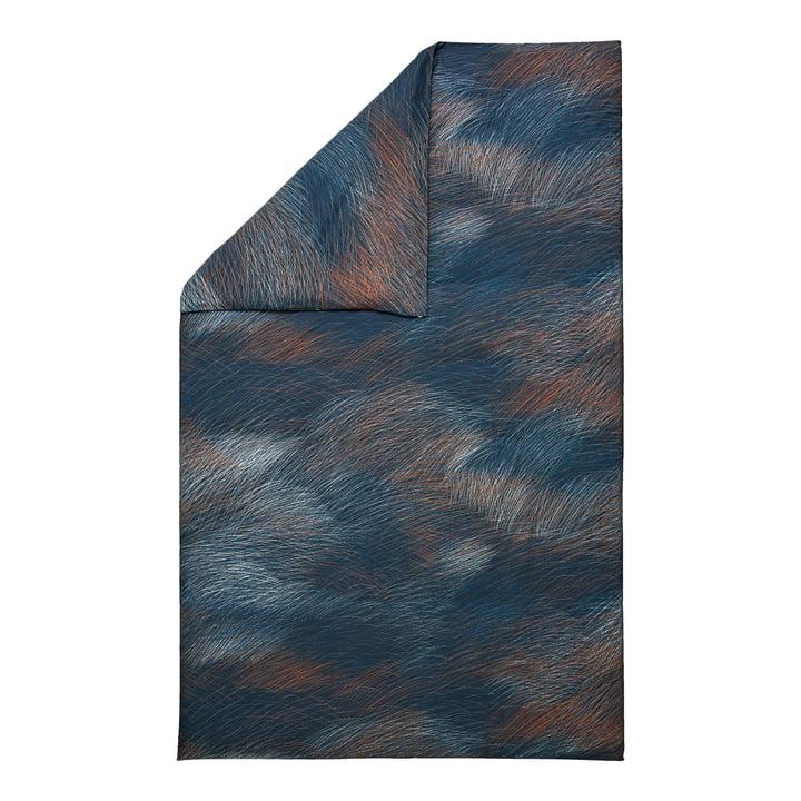 Lepo duvet cover from Marimekko in the colours dark blue, light blue, copper