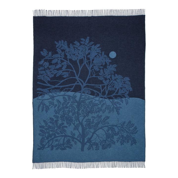 Puu Kuutamossa blanket from Marimekko in the colors grey blue / blue / black
