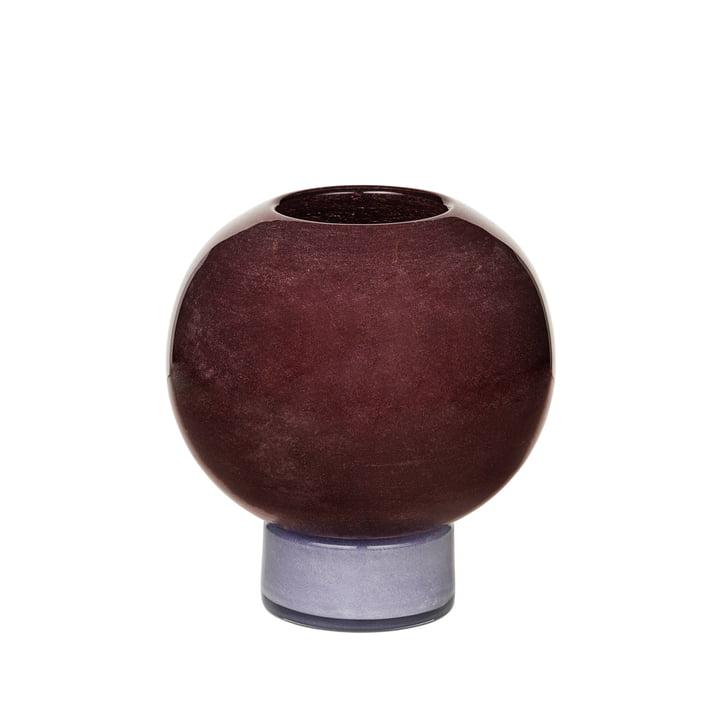 The Mari vase from Broste Copenhagen , H 21 cm, puce aubergine / orchid hush