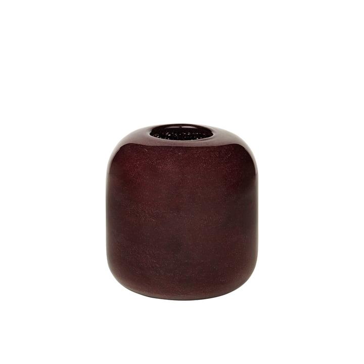 The Kai vase from Broste Copenhagen , H 13,5 cm, puce aubergine