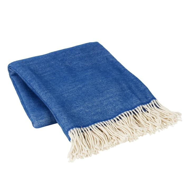 The blanket Jeanne from Broste Copenhagen , 130 x 200 cm, insignia blue