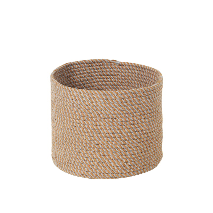 The Brady storage basket from Broste Copenhagen , Ø 28 x H 22 cm, apple cinnamon
