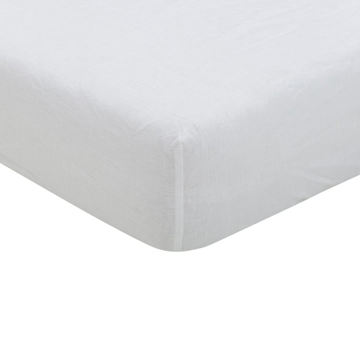 Maxime Fitted sheet, white from Passion for Linen