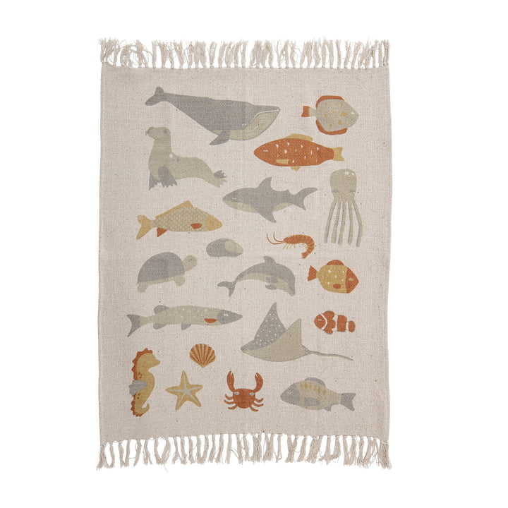 Abaas Blanket 100 x 80 cm from Bloomingville in nature