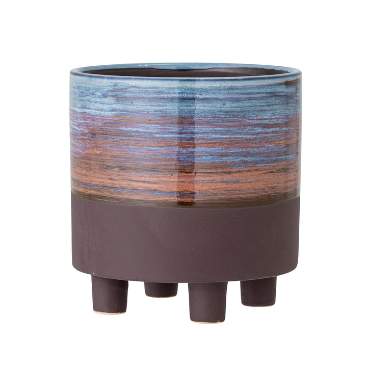 The Maes flower pot from Bloomingville , Ø 15 cm, blue / brown