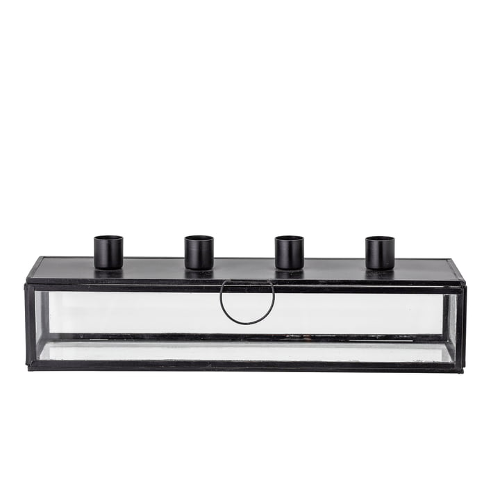 Pelo Advent candle holder L 34 cm from Bloomingville in black