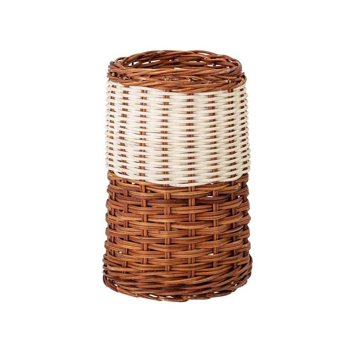 Leja Storage basket from Bloomingville in rattan nature / white