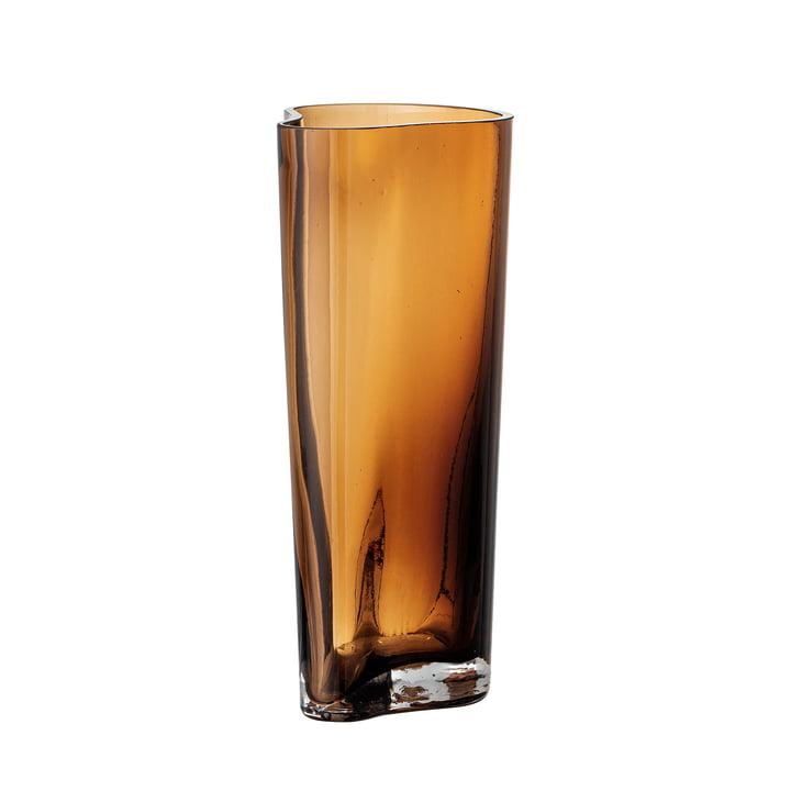 Benia Glass vase, H 20 cm from Bloomingville in brown