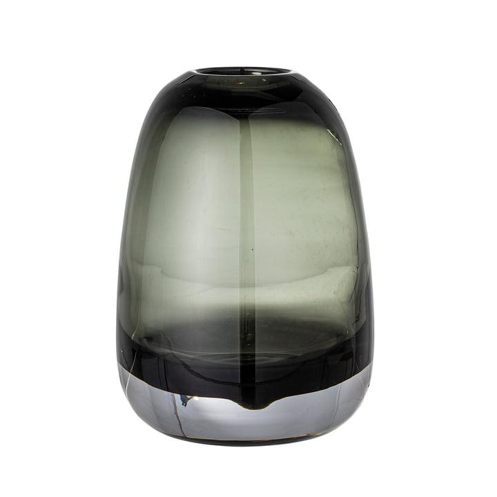 Adjo Glass vase H 17,5 cm from Bloomingville in grey