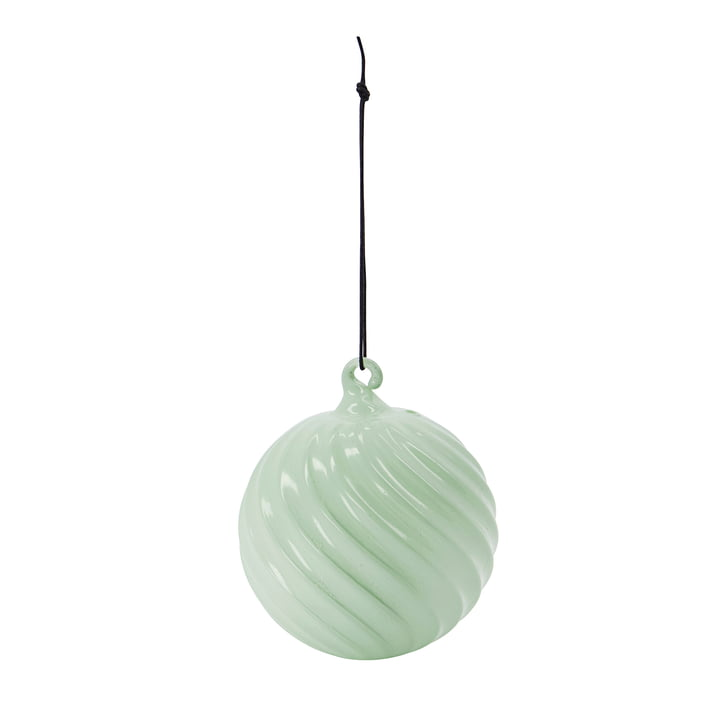 Glassy Christmas tree ball from House Doctor in the color dusty green