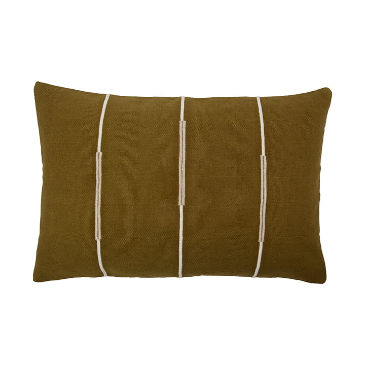 Indi Pillowcase 60 x 40 cm from House Doctor in olive green