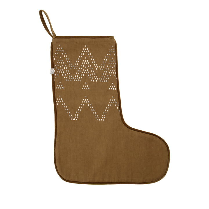 Noel Christmas stocking from House Doctor in color brown