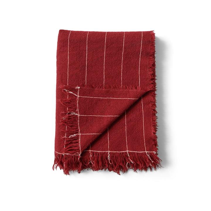 Battus Wool blanket, 130 x 185 cm, burnt sienna by Menu