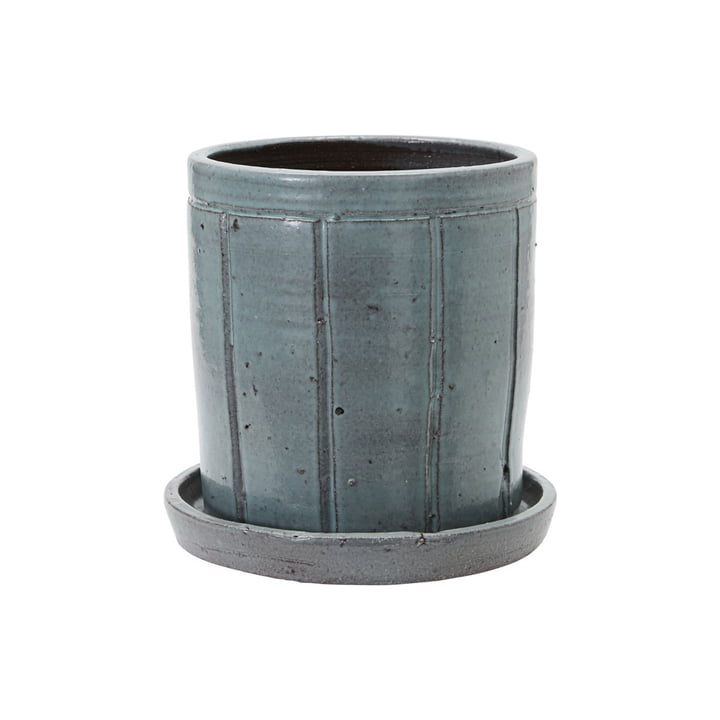 Julian Flowerpot with saucer from House Doctor in grey / green