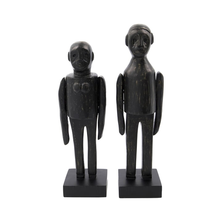 Spouses Sculptures pair from House Doctor in black